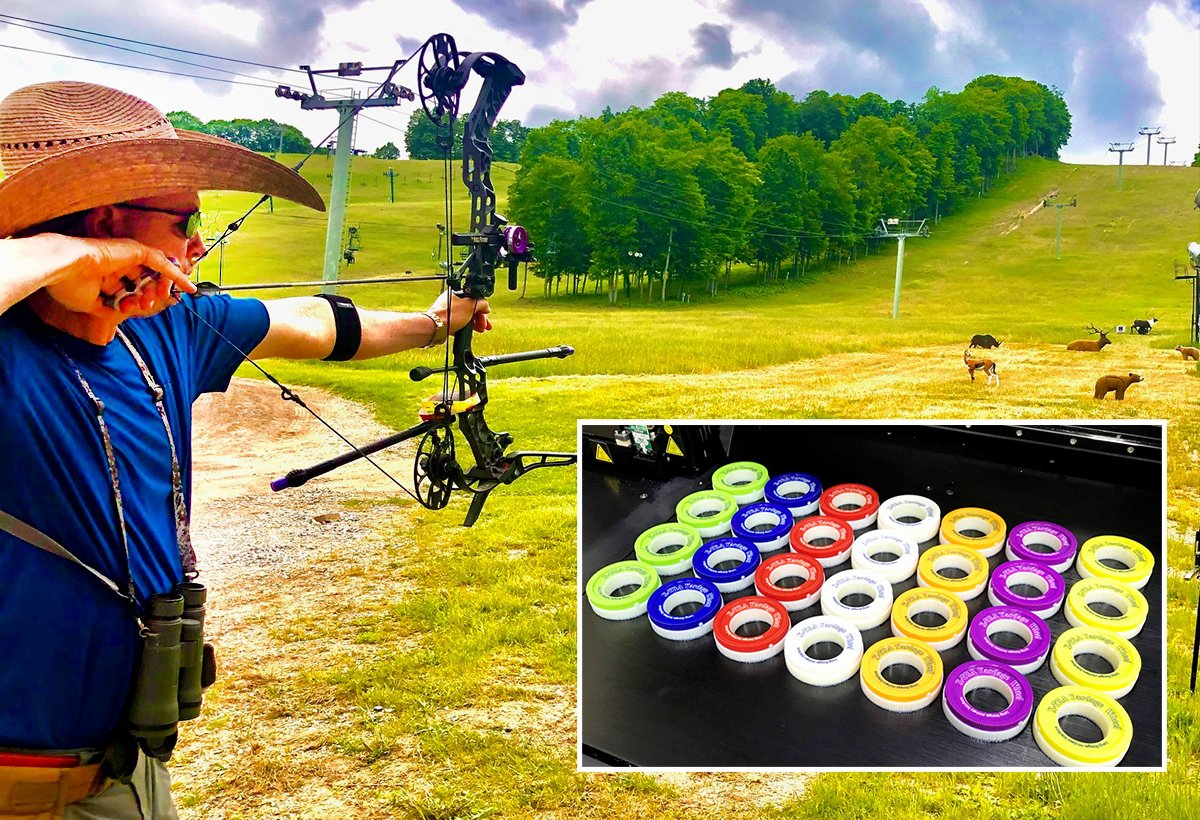 The Long Range Archery Solutions sight wheels were produced on RCBI's Stratasys J850 3D printer, which prints much faster than traditional 3D systems and can create items in multiple colors and multiple materials simultaneously.